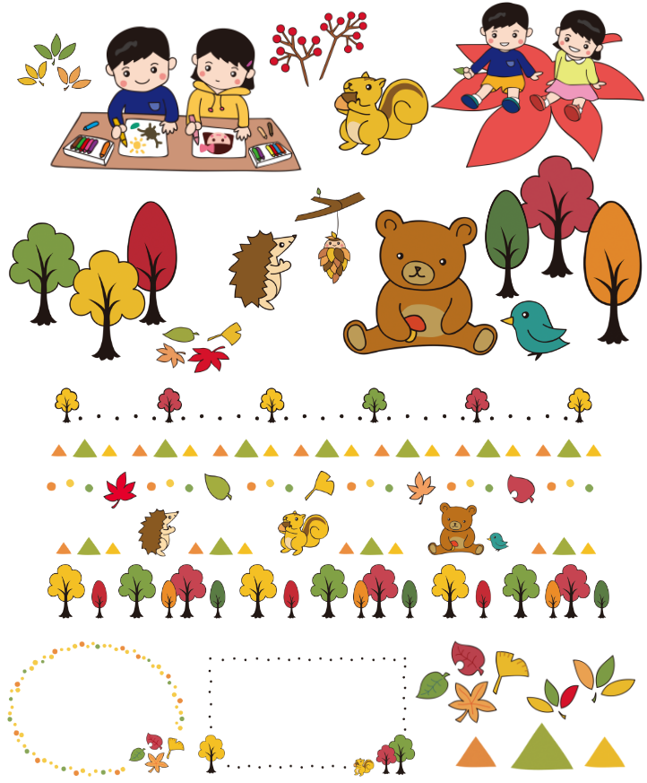 幼稚園・保育園で使える11月イラスト